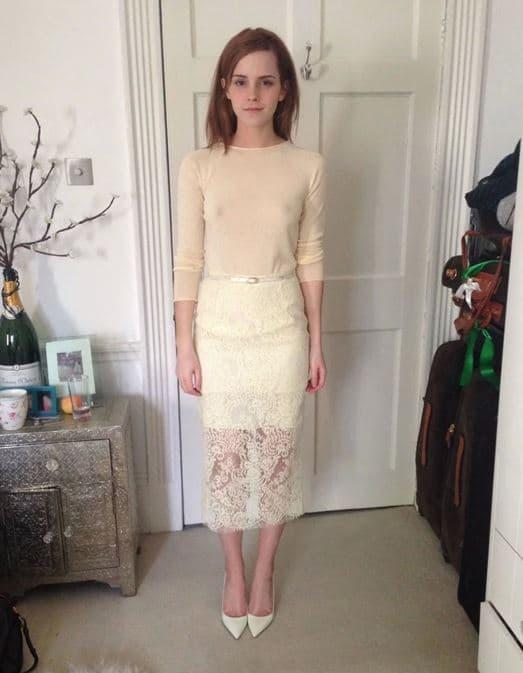Emma Watson goes see thru in sexy dress