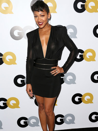 Meagan Good Hard Nipples and Cleavage at the Bet Awards in