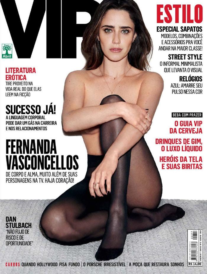 Fernanda Vasconcellos topless and pantyhose